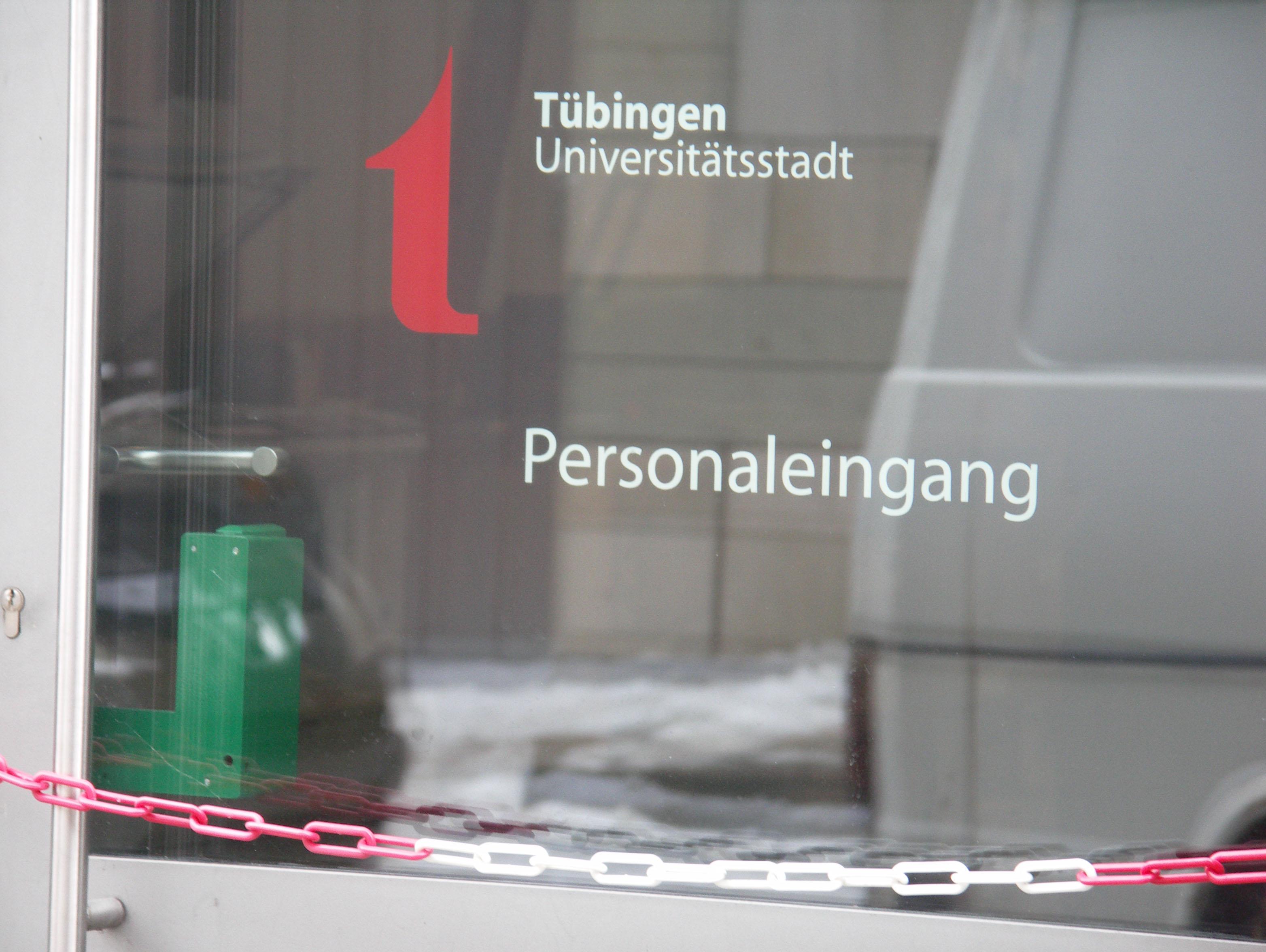 Personaleingang der Stadt Tübingen. Foto: Landwehr.