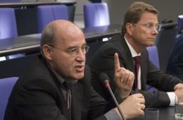 Gregor Gysi im Parlament. Foto: Manos Radisoglou, jugendfotos.de