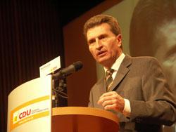 Günther Oettinger. Foto: Landwehr.