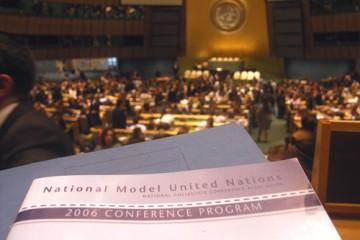 Die Vollversammlung der Vereinten Nationen in New York.