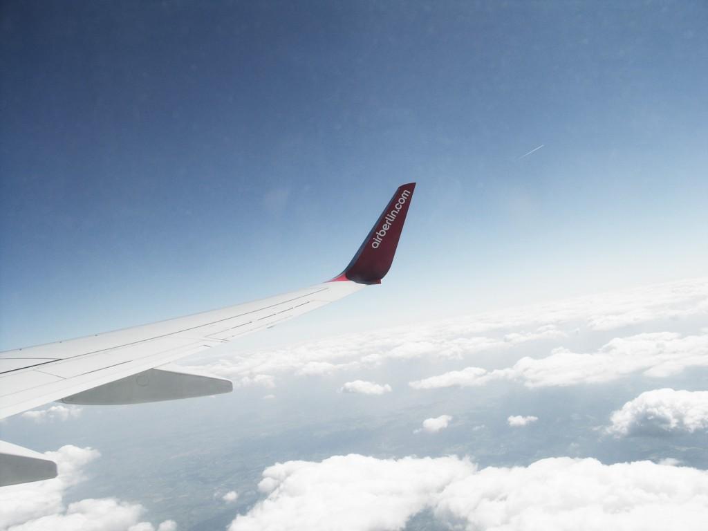 Auch Journalisten fliegen günstig mit Air Berlin.
