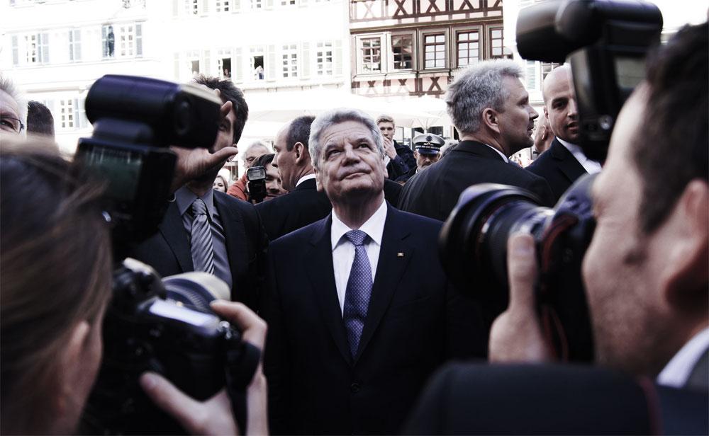 Bundespräsident Joachim Gauck. Foto: Landwehr.